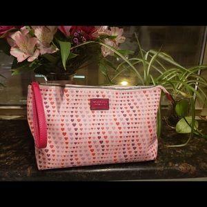 Betsy Johnson Pink Hearts Zipper Bag